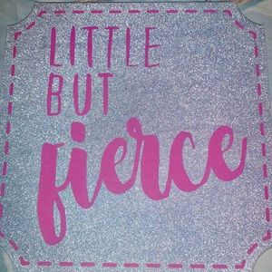 Glitter wall plaque